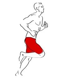 Running man sketch vector