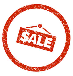 sale signboard rounded grainy icon vector image vector image