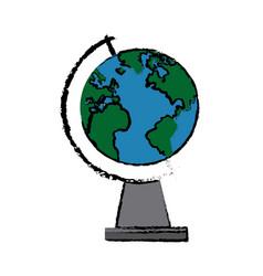 School globe map atlas learn equipment vector