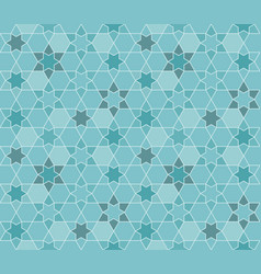 Seamless pattern moroccan in blue theme vector
