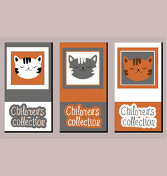 set art labels on childrens clothing vector image