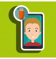 Smartphone person tecnology icon vector