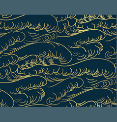 Storm wave water sea japanese chinese seamless vector