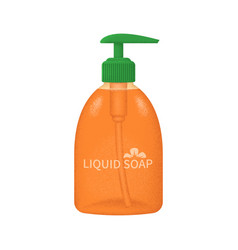Stylized liquid soap bottle with texture vector