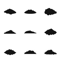 Swarm icons set simple style vector