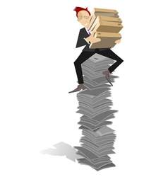 Too much documents vector image