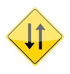 Two Way Sign vector image