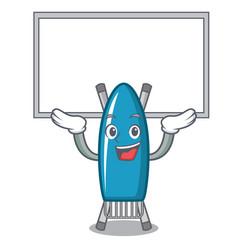up board iron board character cartoon vector image
