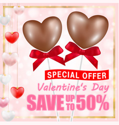 valentines day shopping sale greeting card banner vector image