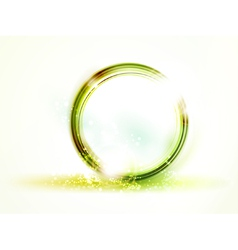 abstract round green frame vector image vector image