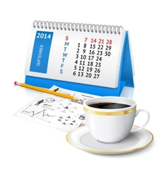 Calendar and business sketch vector image vector image