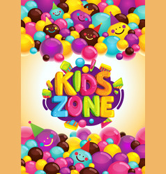 kids zone poster vector image vector image