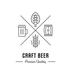 Logo Craft Beer vector image