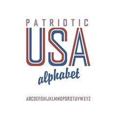 patriot alphabet vector image