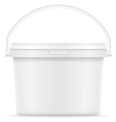 plastic bucket for paint 05 vector image vector image