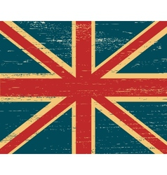 shabby British flag vector image vector image