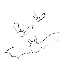 vampires black flying icon vector image