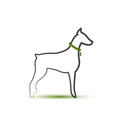 Dog silhouette stylized logo vector image vector image