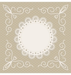 greeting card or wedding invitation mono line vector image vector image