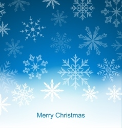 New Year Blue Background with Snowflakes vector image vector image