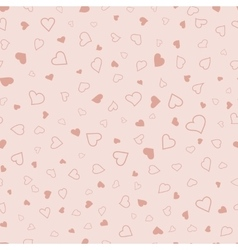 Pink hearts seamless pattern valentines texture vector image