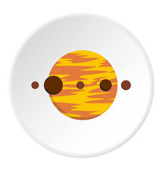 planet and moons icon circle vector image