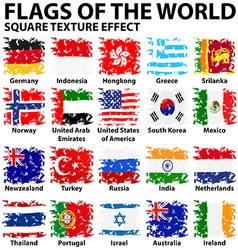 Poster design with flags of the world vector image vector image