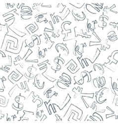 Seamless Pattern of Currencies vector image