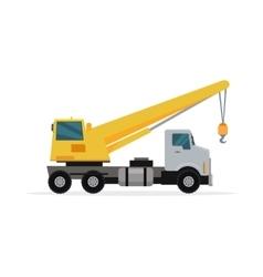 Telescopic Truck Crane in Flat Design vector image vector image