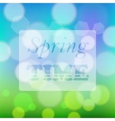Transparent Spring Time Banner vector image vector image