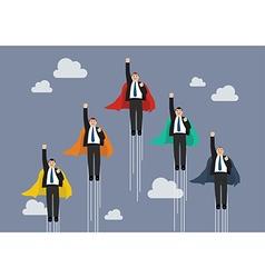 Businessmen superhero competition vector image vector image
