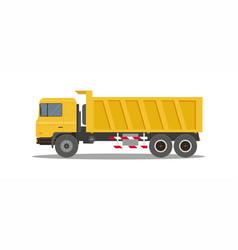 dump truck tipper on white background vector image vector image