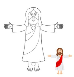 Jesus coloring book Jesus christ drawing for vector image vector image