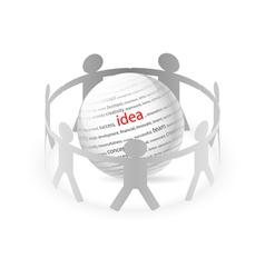People Chain idea vector image