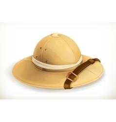 Pith helmet icon vector image