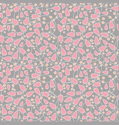 seamless abstract pink flower vector image