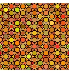 Seamless multicolor orange shades rounded vector