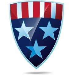 Shield with flag of the USA vector image vector image