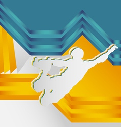 abstract sports vector image vector image