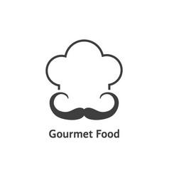 black gourmet food logo vector image
