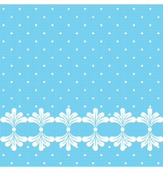 Blue lacy polka dot background vector image