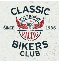 Classic Bikers club vector image vector image