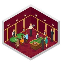 colored casino isometric interior vector image