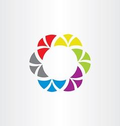 colorful abstract logo business circle symbol tech vector image