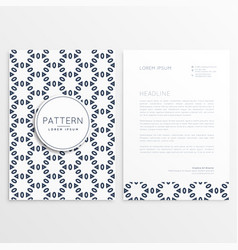 creative letterhead design with front and back vector image vector image