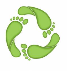 footprint recycle sign vector image