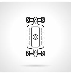 Longboard flat line design icon vector image vector image