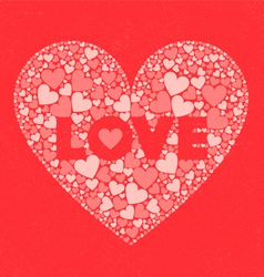 LOVE Valentines Day Card vector image
