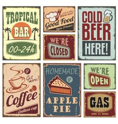 Vintage style signs vector image