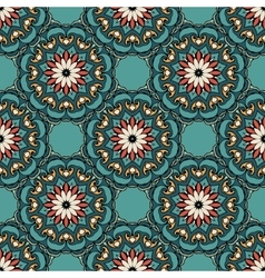 Abstract seamless ornament floral pattern vector image